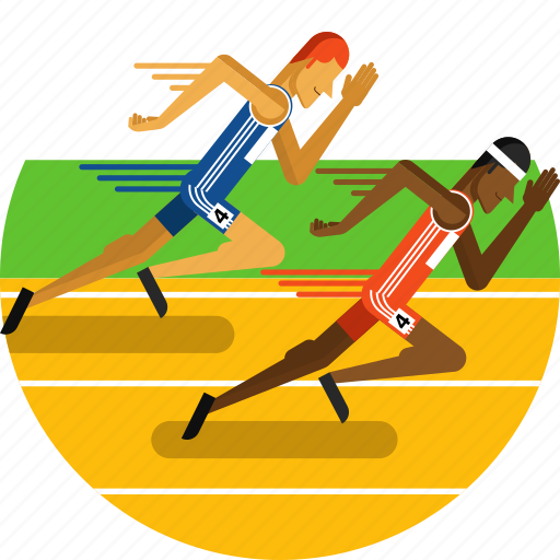 athletics, line, runners, running, sports icon, stadium, track icon