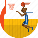 ball, basket, basketball, olympic sport, player, sports icon, stadium icon