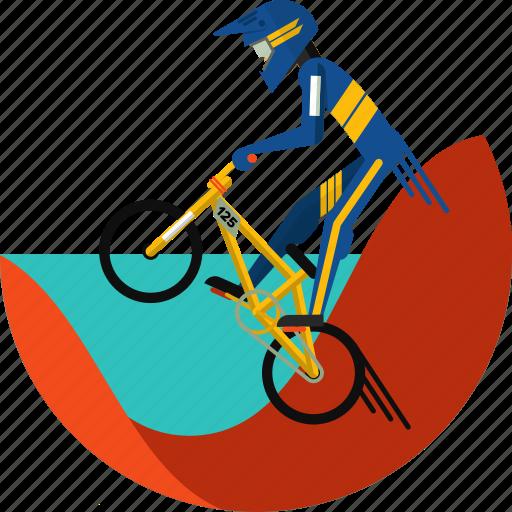 bike, bmx, cycle, cycling, cycling bmx, cycling gear, olympic sports icon