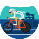competing, cyclers, cycling, cycling track, olympic sports, sports, track icon icon