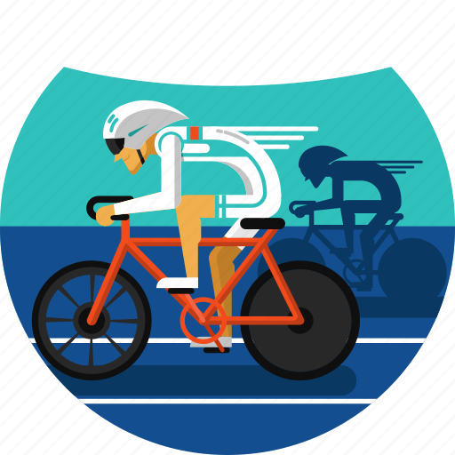 competing, cyclers, cycling, cycling track, olympic sports, track icon