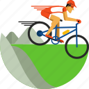 bike, cycling, mountain, mountain bike, olympic sport, sports icon icon