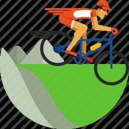 bike, cycling, mountain, mountain bike, olympic sport, sports icon icon