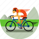 bicycle, cycler, cycling, olympic sport, road, sports icon icon
