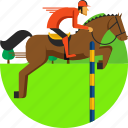 dressage, equestrian, horse, jumping, olympics, riding, sports icon icon