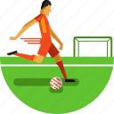 ball, field, football, football player, game, olympic sports, soccer icon