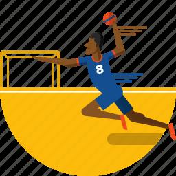 ball, hand, handball icon, olympic sports, player, sports icon icon