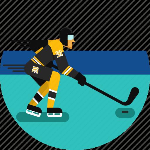 hockey, hockey stick, ice, ice hockey, skates, sports icon, stadium icon