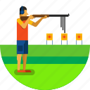 gun, olympic sports, shooter, shooting, sports, target, weapon icon icon