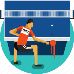 ball, net, olympic sports, racket, table, table tennis icon, tennis icon