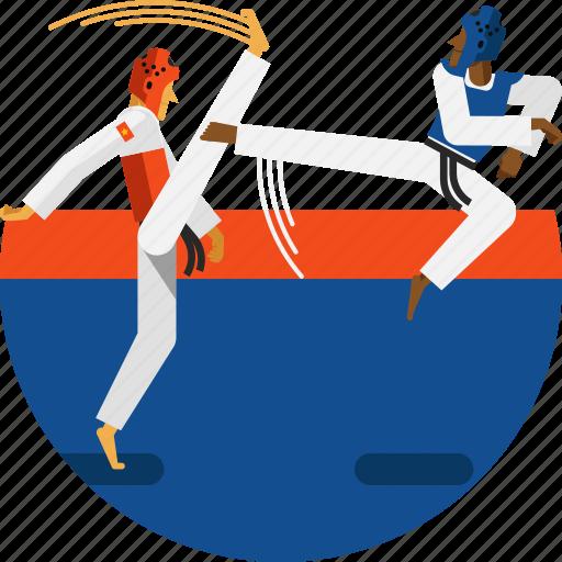 fighting, helmet, olympic sport, safety, sports icon, taekwondo icon