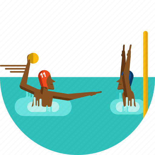 ball, olympic sports, players, polo, water, water sport icon icon