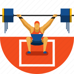 exercise, fitness, gym, olympic sports, training, weightlifting, weights icon icon