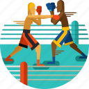 boxers, boxing, equipment, fighting, gloves, ring, sports icon icon