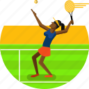 ball, exercise, player, racket, racquet, sports, tennis icon icon