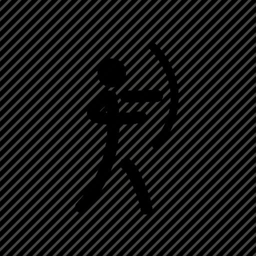 archery, arrow, bow, olympic, shooting, sport, target icon