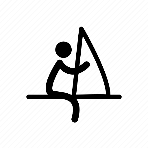 athlete, boat, olympics, sail, sailing, sport, water icon