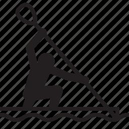 athlete, canoe, canoeing, oar, olympics, rio2016, sports icon