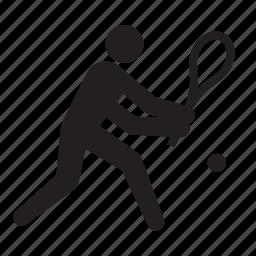 athlete, olympics, racket, rio2016, sports, tennis icon