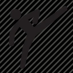 athlete, karate, kick, olympics, rio2016, sports, taekwondo icon