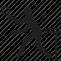 athlete, olympics, pingpong, rio2016, sports, table tennis icon