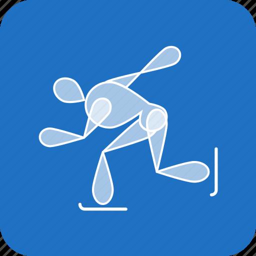 olympics, skating, speed, sports, winter icon