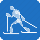 cross-country, olympics, ski, skiing, sports, winter icon