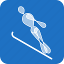 jumping, olympics, ski, sports, winter icon
