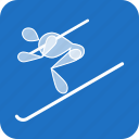 alpine, olympics, ski, skiing, sports, winter icon