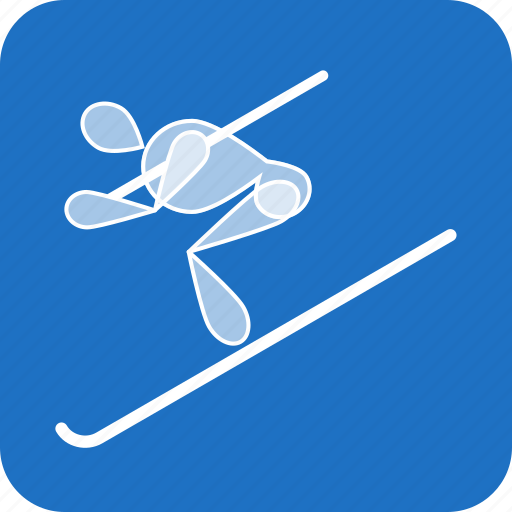 alpine, olympics, ski, skiing, sports, winter icon