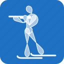 biathlon, olympics, sports, winter icon