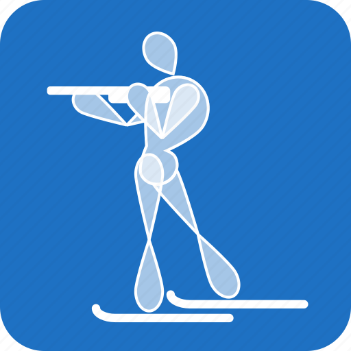 biathlon, olympics, sports, winter icon