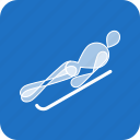 luge, olympics, skeleton, sports, winter icon