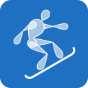 extreme, olympics, snowboard, sports, winter icon