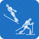 nordic combined, olympics, sports, winter icon