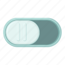 arm, cartoon, lever, off, switch, tumbler icon