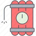 bomb, countdown, dynamite, explosion, millitary, war, weapon icon