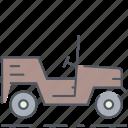 jeep, army, battle, millitary, vehicle, war, world war icon