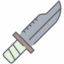 army, battle, blade, knife, millitary, war, weapon icon
