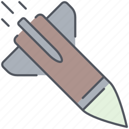 army, long range, millitary, missile, rocket, war, weapon icon