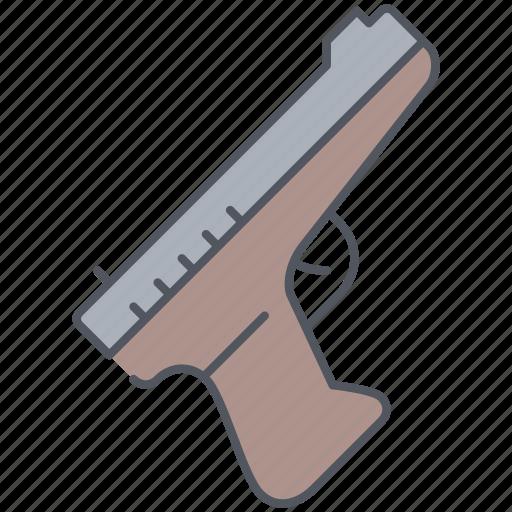 army, handgun, millitary, pistol, revolver, war, weapon icon