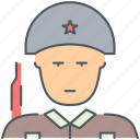 army, helmet, millitary, soldier, warrior, weapon, world war icon
