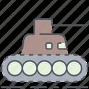 tank, army, battle, millitary, vehicle, weapon, world war icon