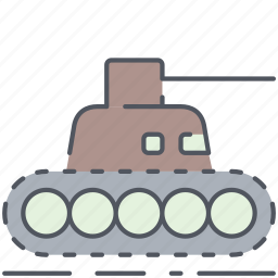 army, battle, millitary, tank, vehicle, weapon, world war icon
