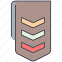badge, war, army, millitary, reward, ribbon, soldier icon