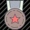 medal, war, award, millitary, reward, ribbon, trophy icon