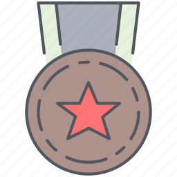 award, medal, millitary, reward, ribbon, trophy, war icon