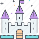castle, disney, fairytale, fantasy, fortress, magic, medieval icon