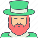 fairytale, fantasy, gold, irish, leprechaun, magic, saint patrick icon
