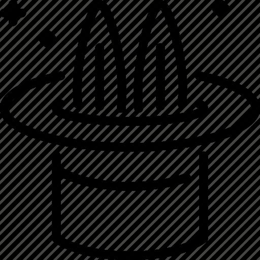 Hat, magic, rabbit, trick icon - Download on Iconfinder